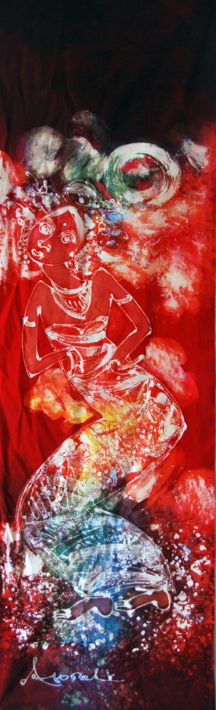 "Batik Painting title: ""A Dancer"""