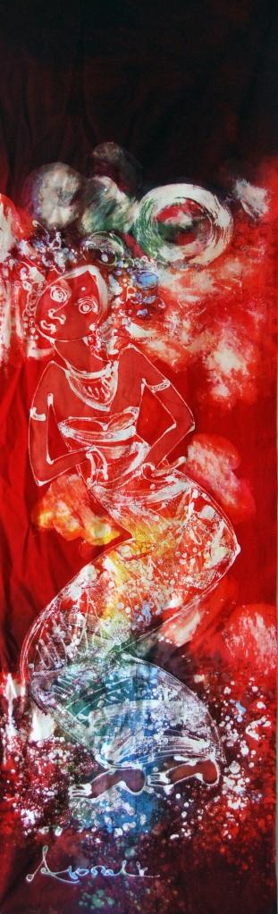 """Batik Painting title: """"A Dancer"""""""