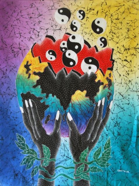 "Batik Painting title: ""Ying and Yang"""