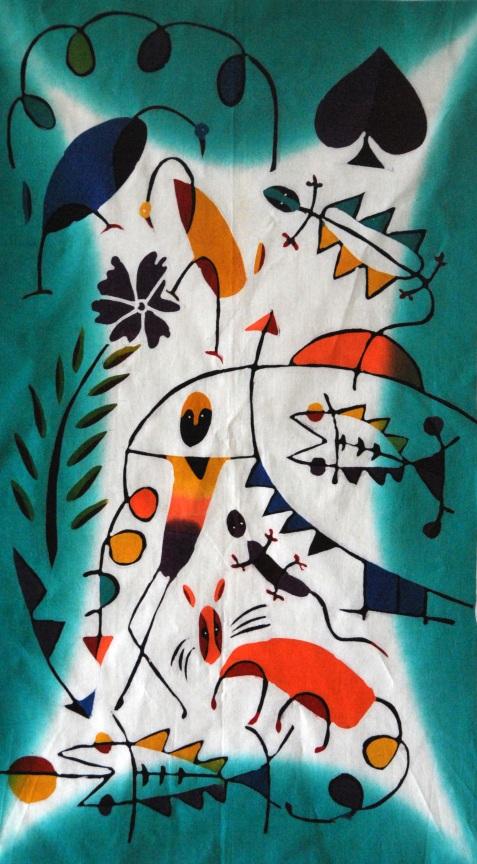"Batik Painting title: ""A Bushman"""