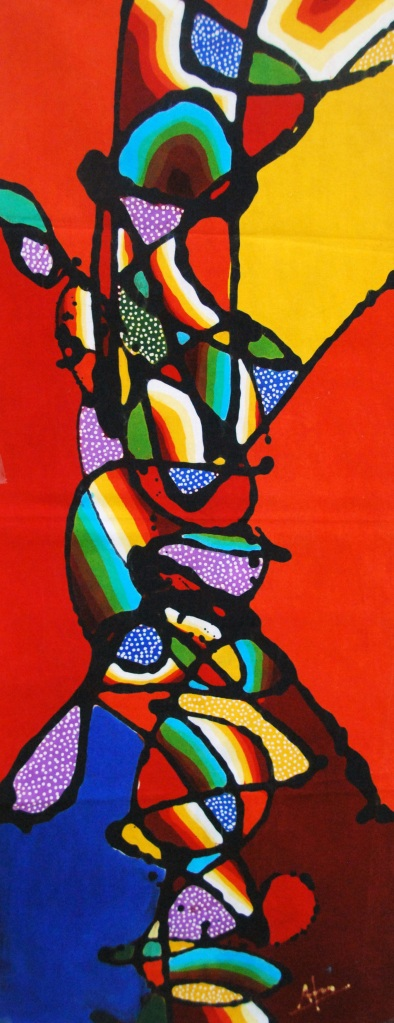 "Batik Painting title: ""Beauty of Colors"""