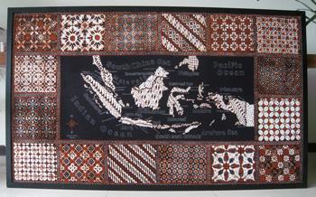 Batik Painting title: Indonesia Map