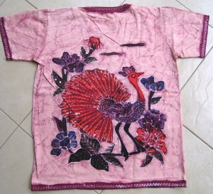 Batik on t-shirt 003 back side