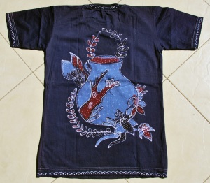 backside t shirt blue