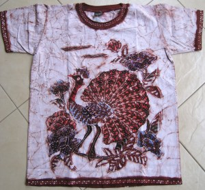 Batik on t-shirt 04 Front Side