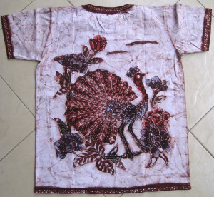 Batik on t-shirt 04 back side