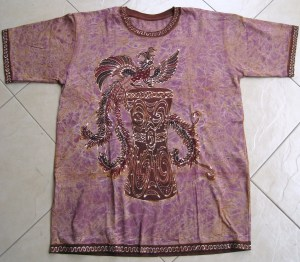 Batik on t-shirt 05 Front Side