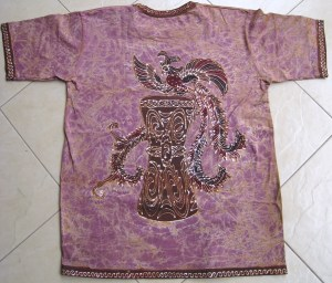 Batik on t-shirt 05 back side