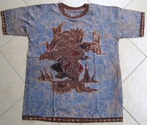 Batik on t-shirt 06 Front Side