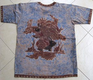 Batik on t-shirt 06 Back Side