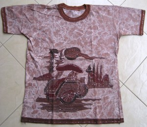 Batik on t-shirt 07 Front Side