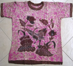 Batik on t-shirt 08 Front Side