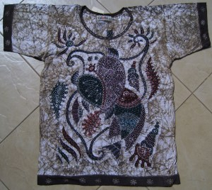 KarieNa art Batik T-shirt front side
