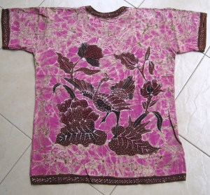 Batik on t-shirt 08 Back Side