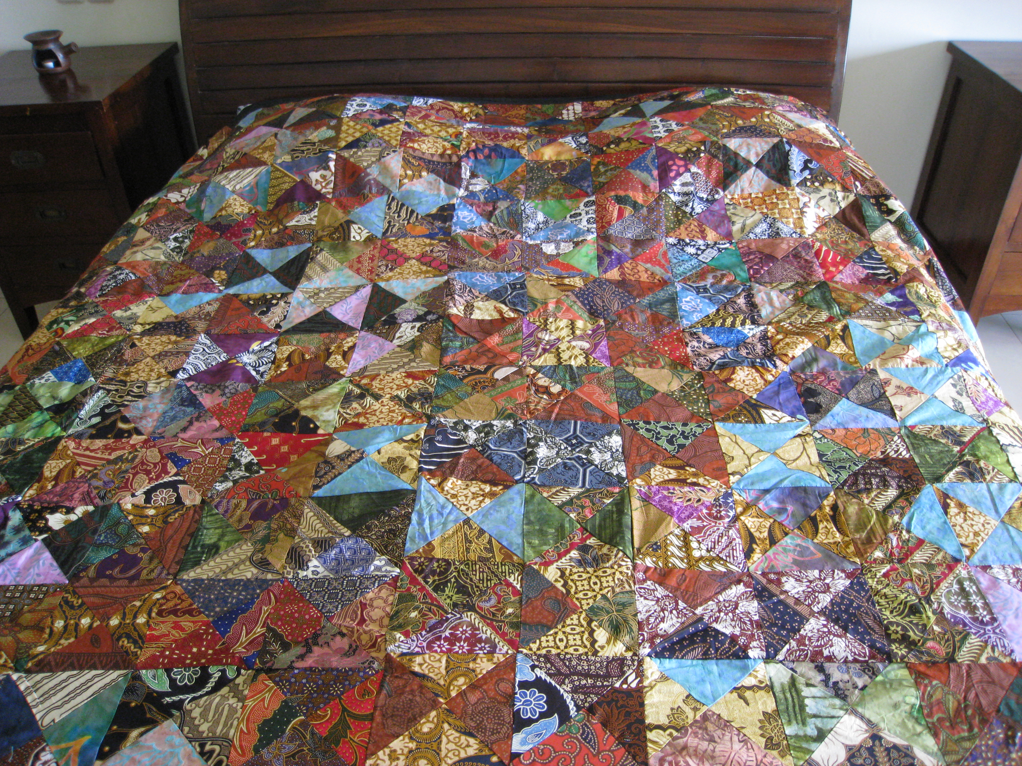 Patchwork bed sheets patterns - Material Patchwork Batik Batik Perca